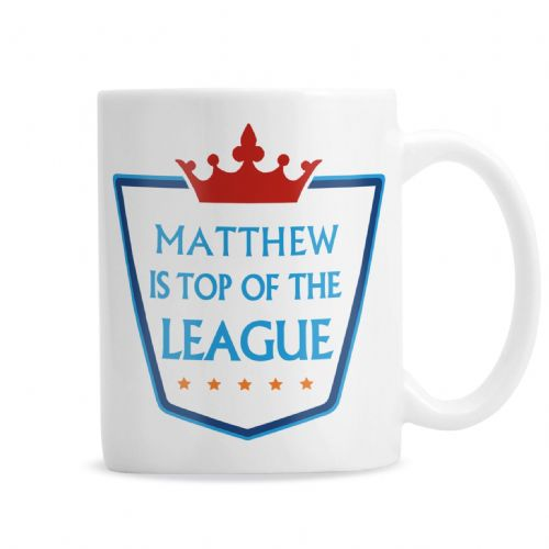 Personalised Top of the League Mug